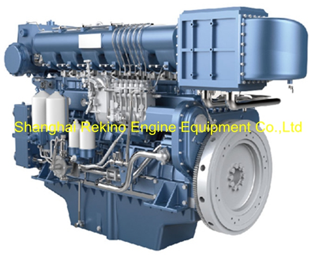 Weichai WHM6160MC600-2 marine propulsion diesel engine motor 600HP 1200RPM